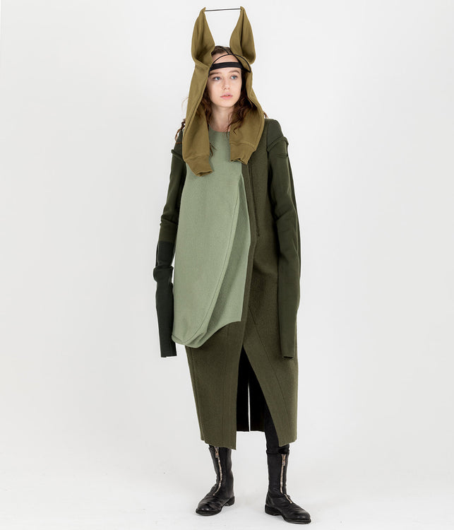 Khaki Green Heron Coat
