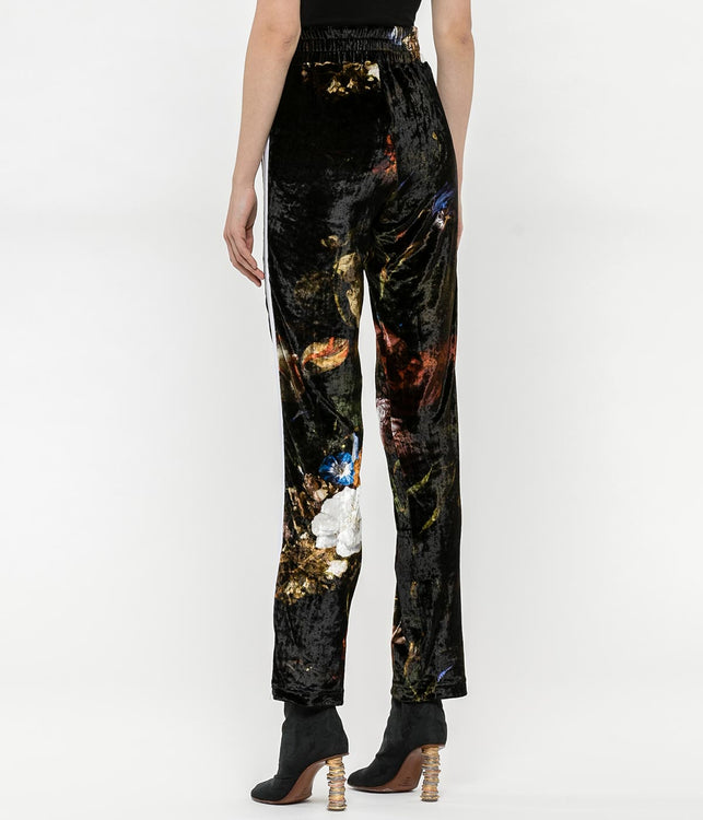 Floral Chenille Track Pants