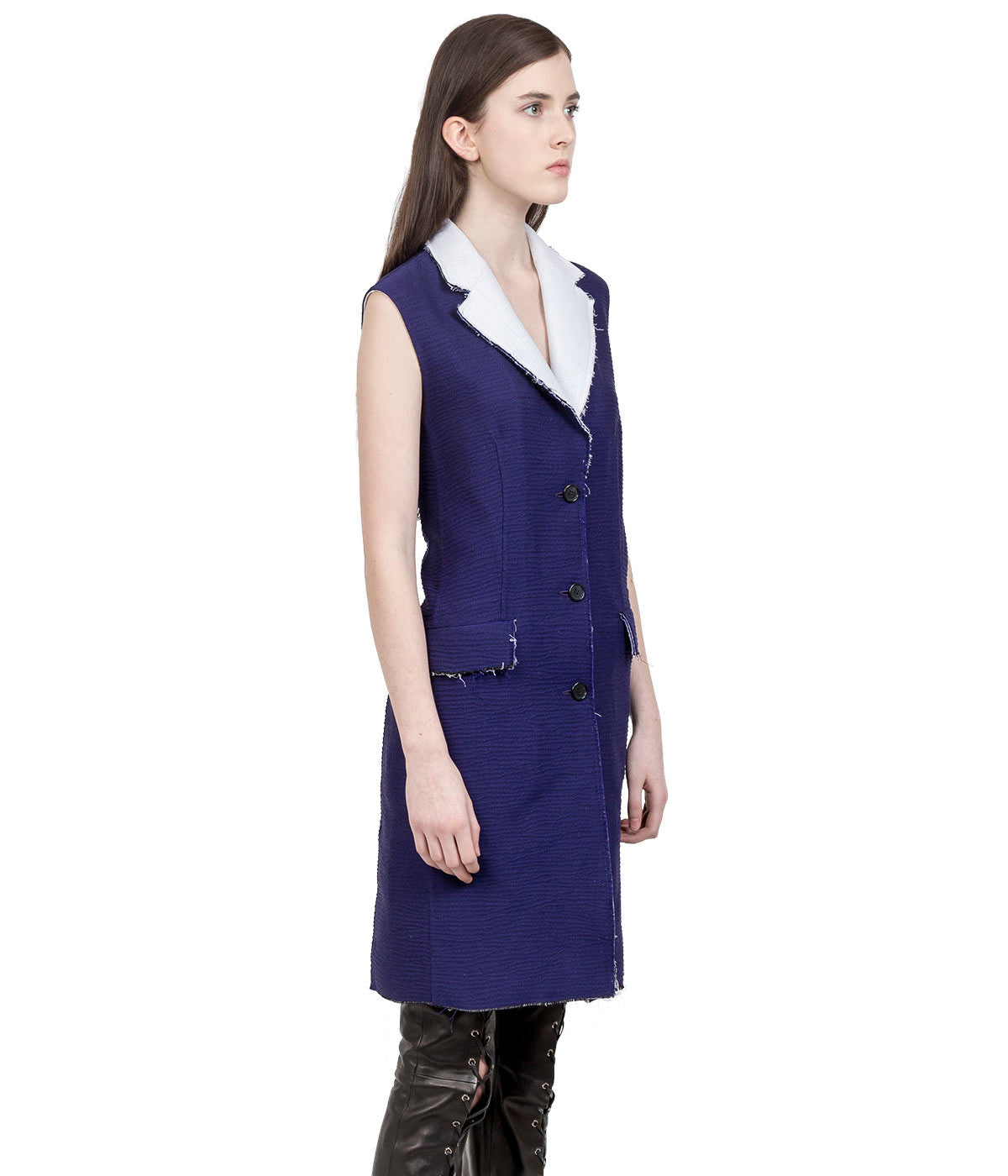 Purple Sleeveless Coat
