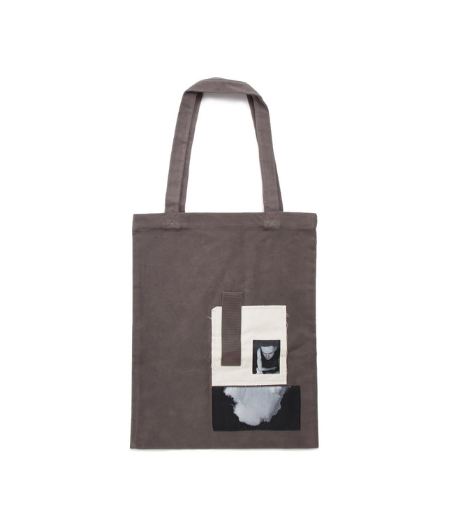 Dark Dust Patchwork Tote Bag