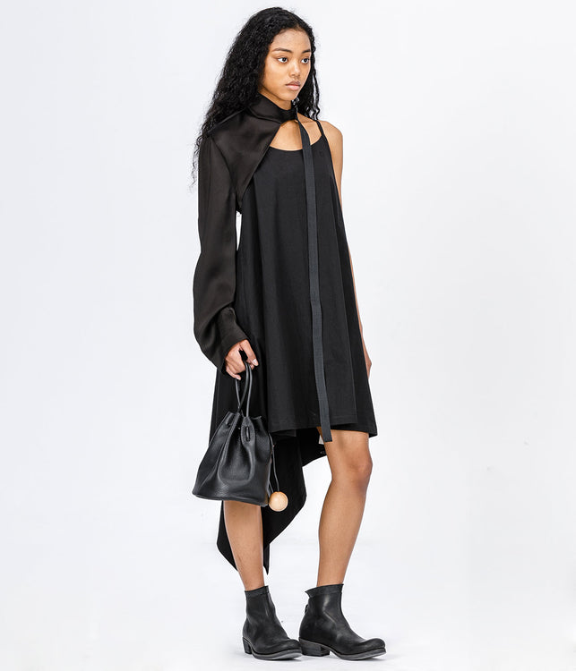 Black Negative Space Viscose Sleeve