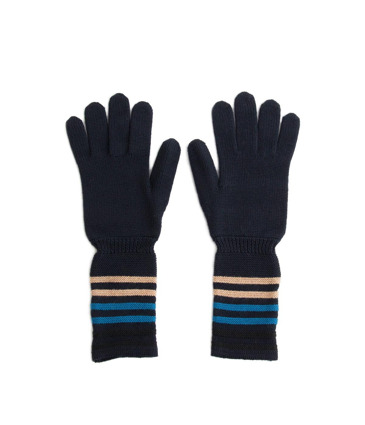 Striped Knit Gloves