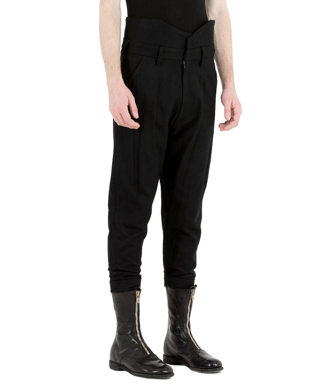 Black High Waist Cashmere Pants