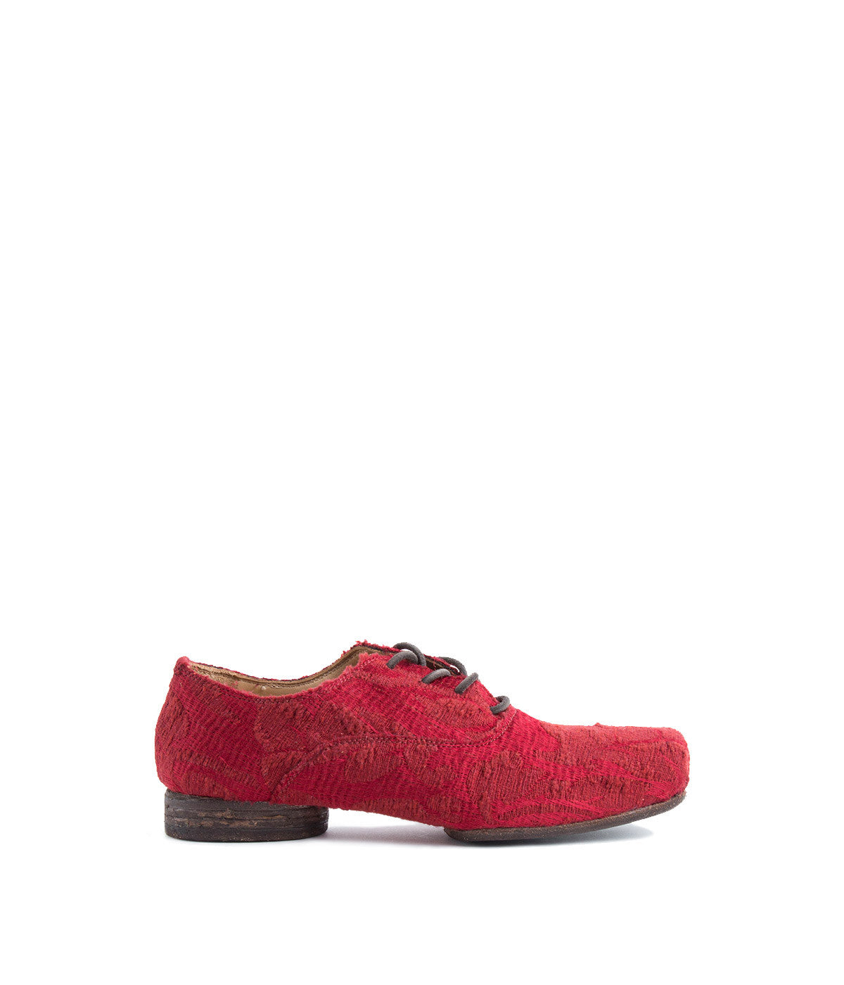 Red Francesina Flat Shoes