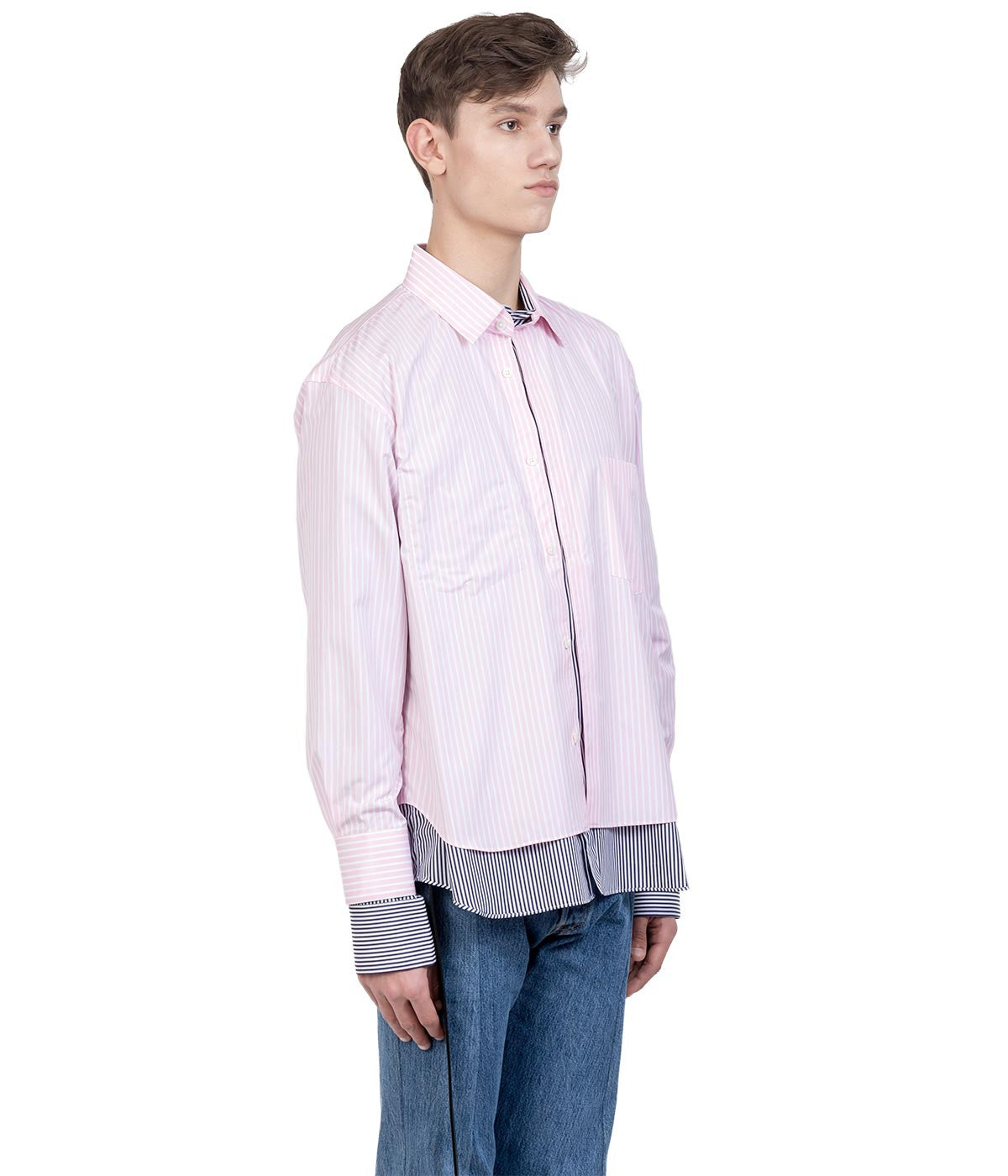 Pink Striped Bonded Shirt
