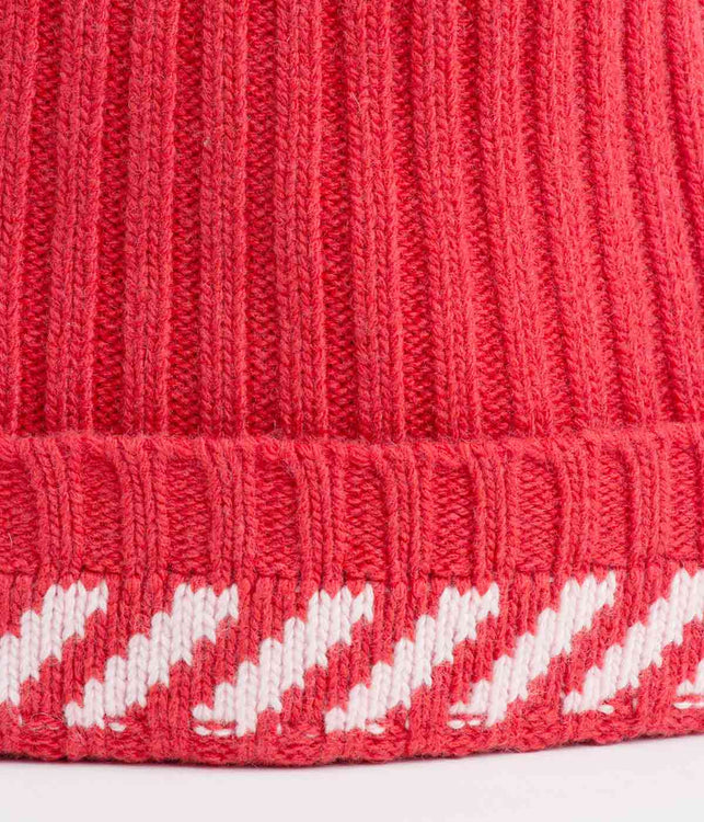 Red Diagonals Beanie