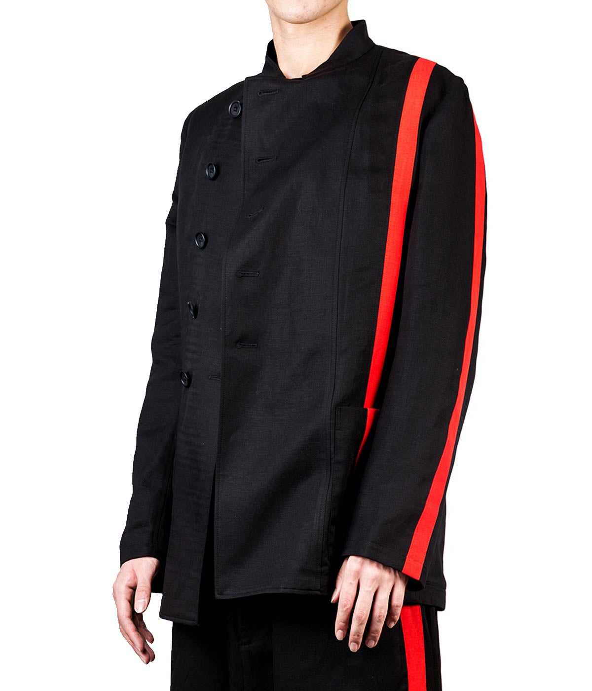 Black & Red Panelled Blazer