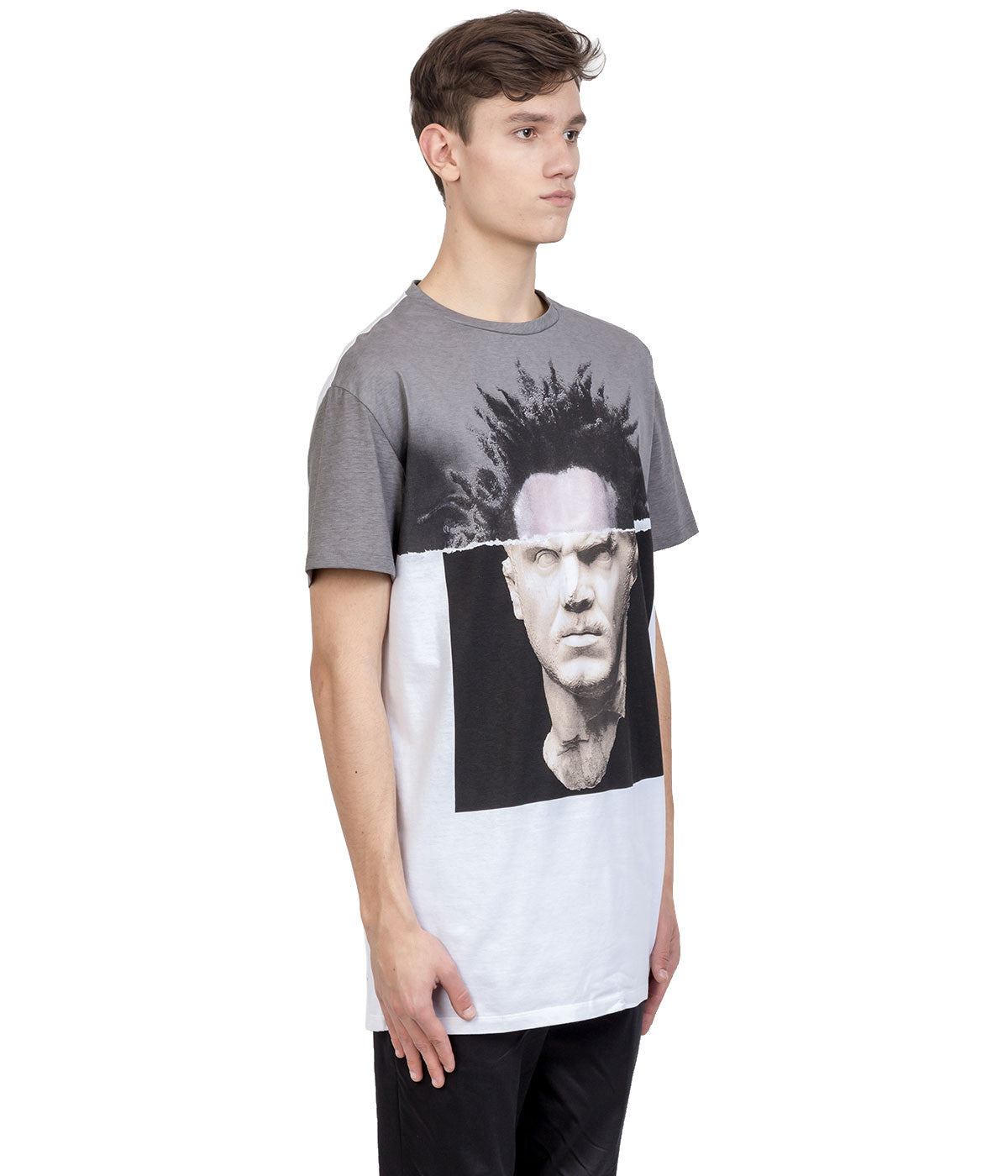 White Contrast Graphic T-Shirt
