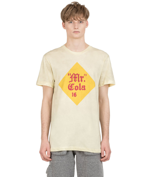 Yellow Distressed Zoe Vance Mr. Cola T-Shirt