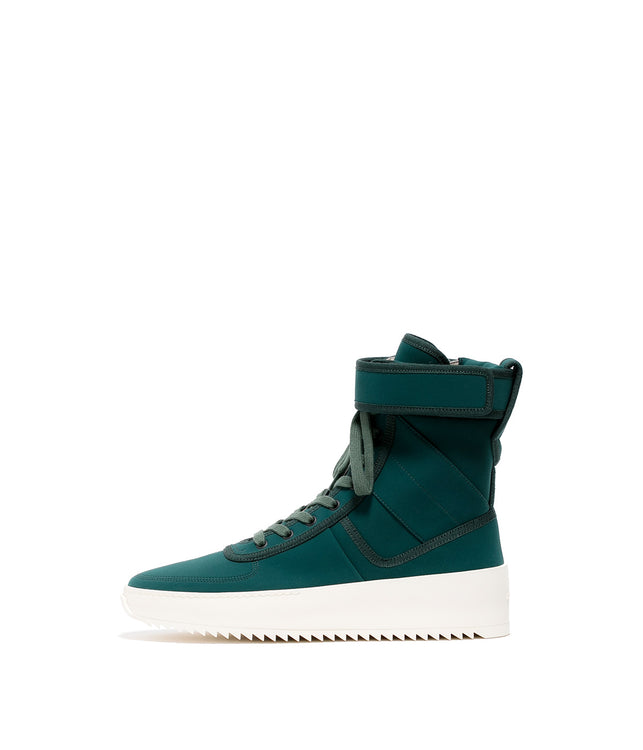 Green Military High-Top Sneakers