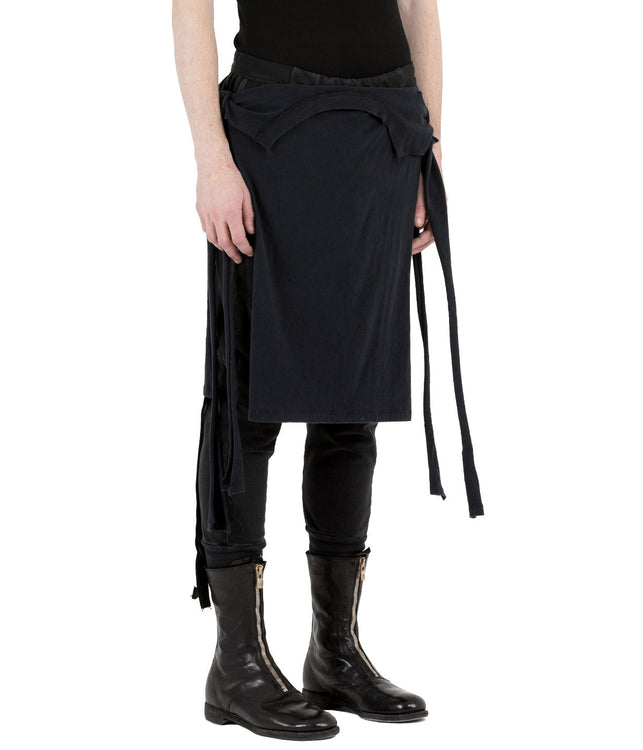 Black Deconstructed T-Shirt Skirt Sweatpants