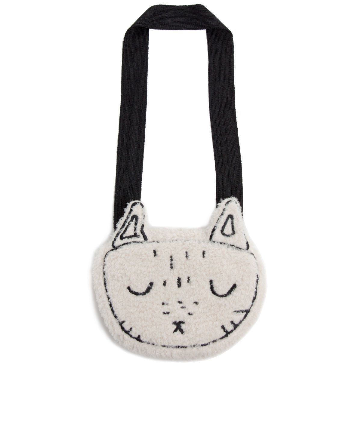 Beige Faux Fur Cat Bag