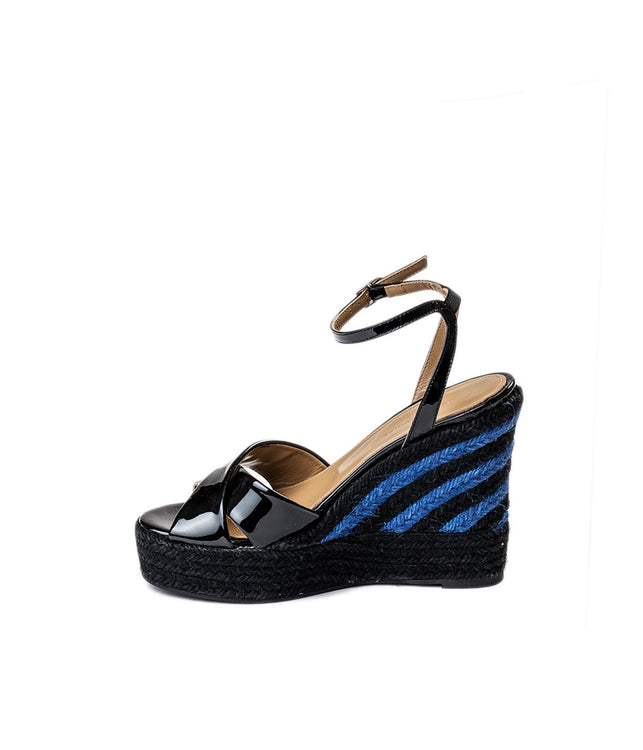 Patent Leather Espadrille Wedge