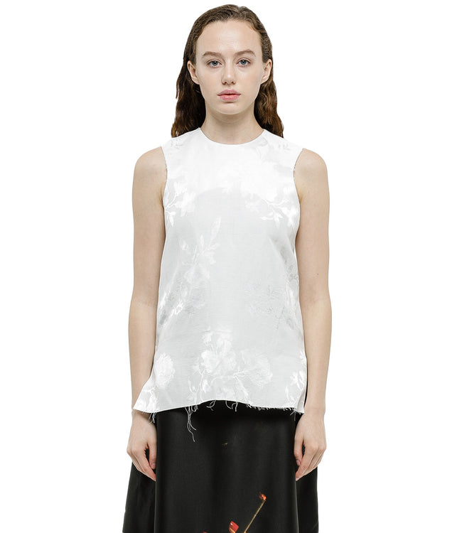 Off White Sleeveless Top