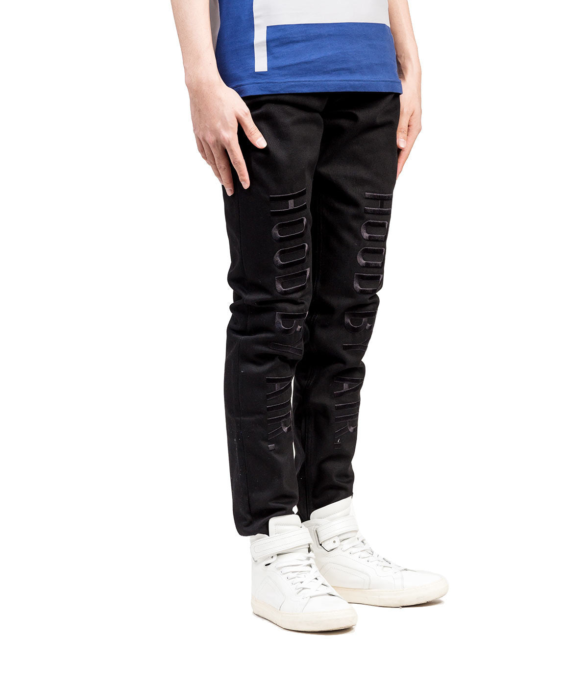 Embroidered Logo Jeans