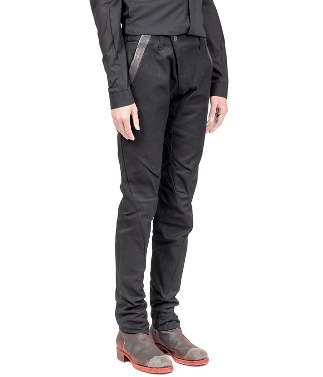 Black Slim Cotton Pants