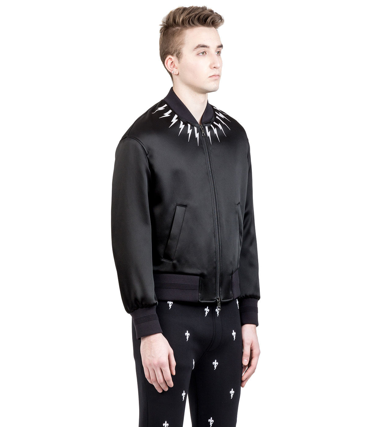 Black Thunder Bomber Jacket
