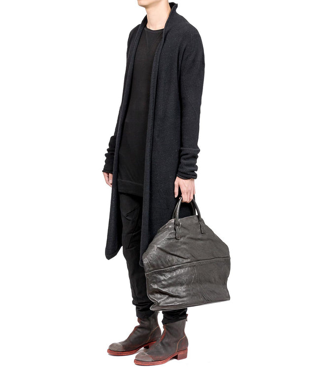 Black Knit Long Coat