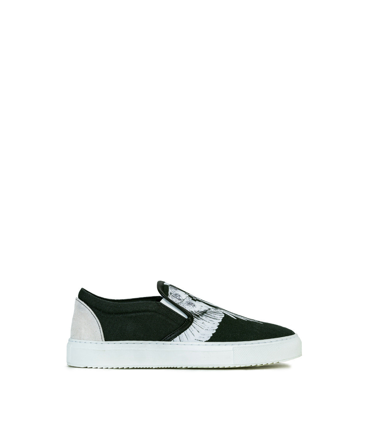 Black Canvas Slip On Sneakers