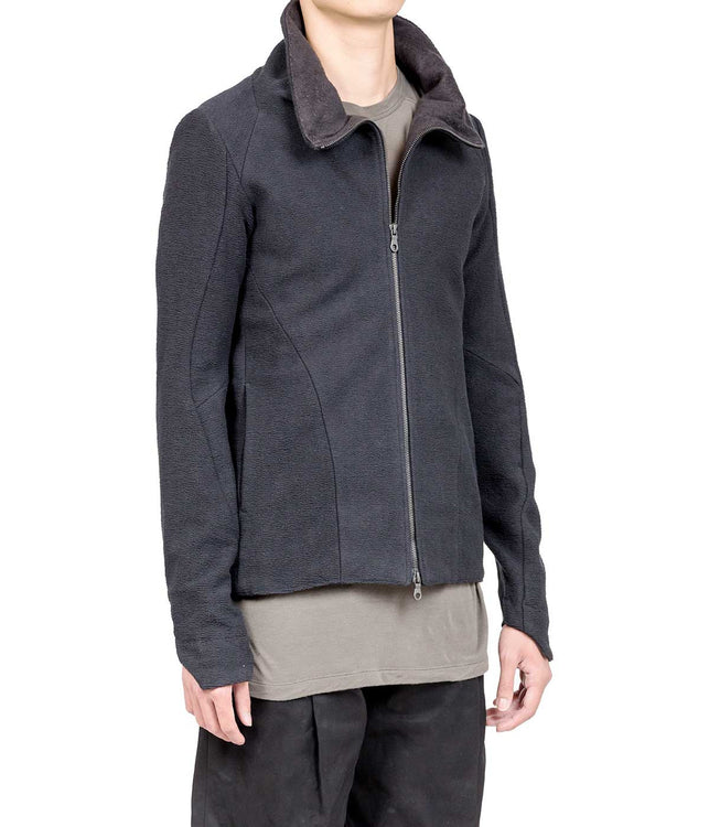 Dark Navy High Neck Jacket