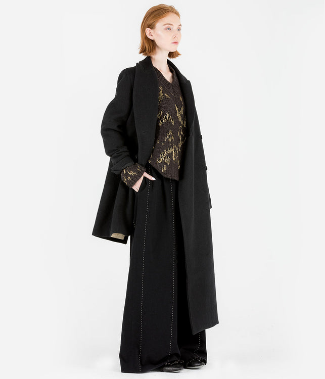 Metallic Black Cace Coat