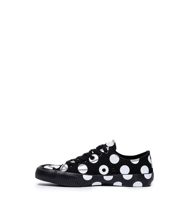 Black Canvas Polka Dot Sneakers