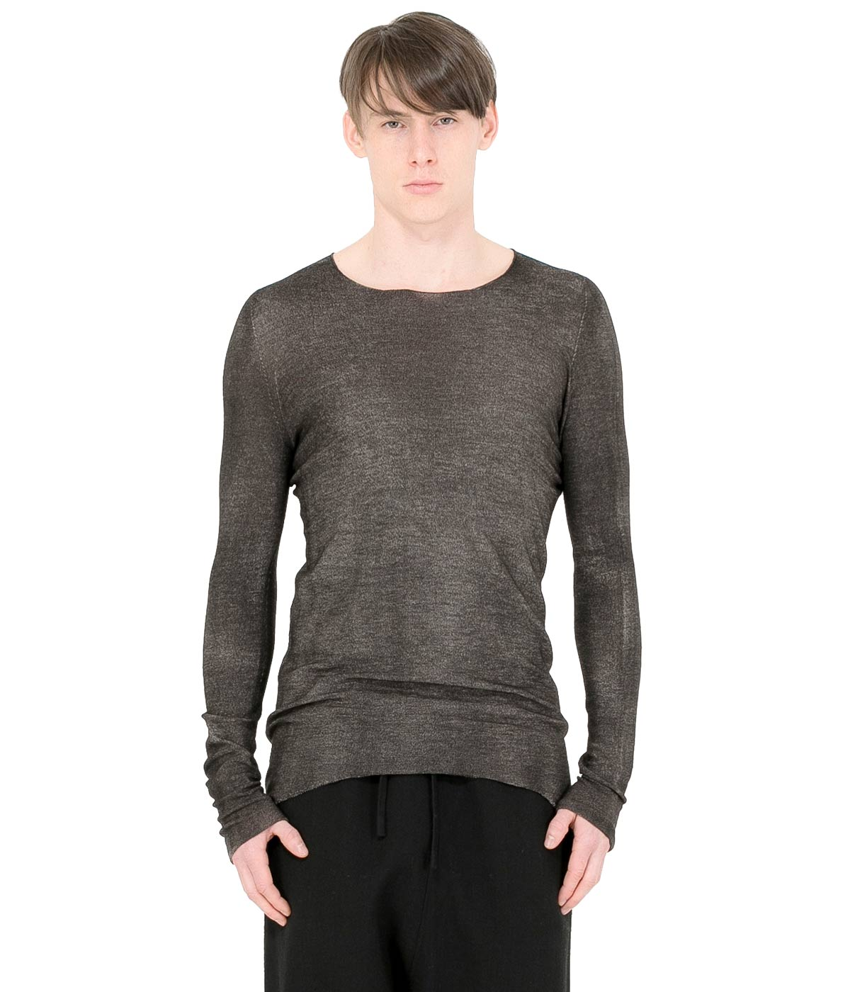 Black Reverse Pullover Sweater