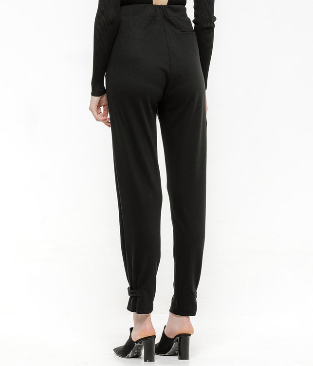 Black Ankle Belt Sweatpants