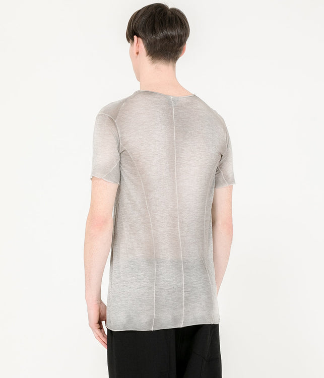 Grey Multi Panel T-Shirt