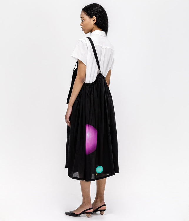 Black Shoulder Strap Skirt