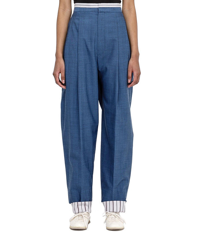 Blue Oversized Trousers