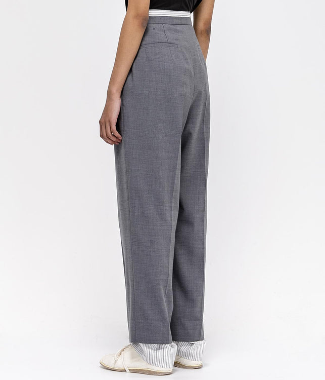 Grey Oversized Trousers