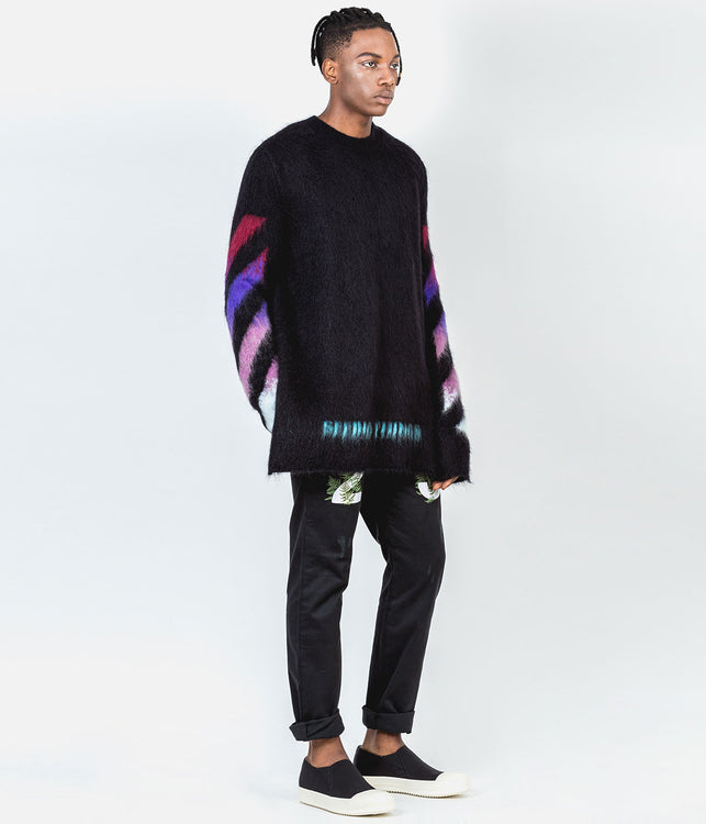 Black Oversized Mohair Sweater