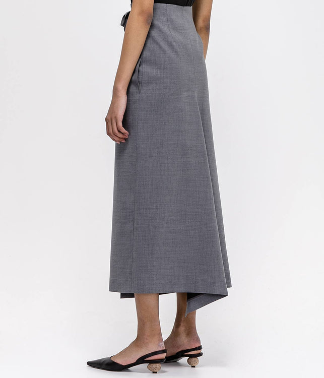 Grey Wrap Skirt