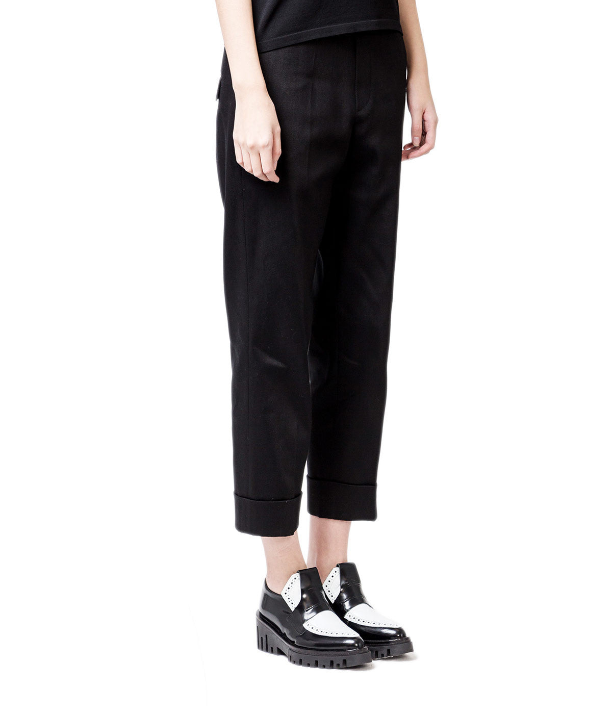 Slouch Over Turn up Trousers