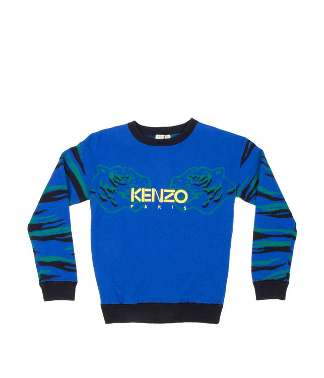 Kids Blue Tiger Sweater