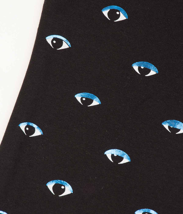 Kids Black Long-sleeved Eyes Shirt