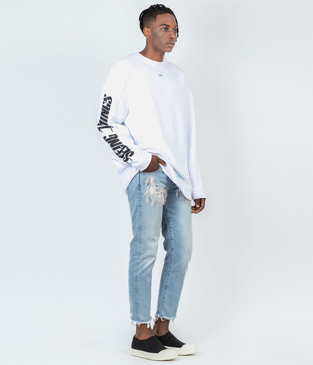 White Photocopy Sweatshirt