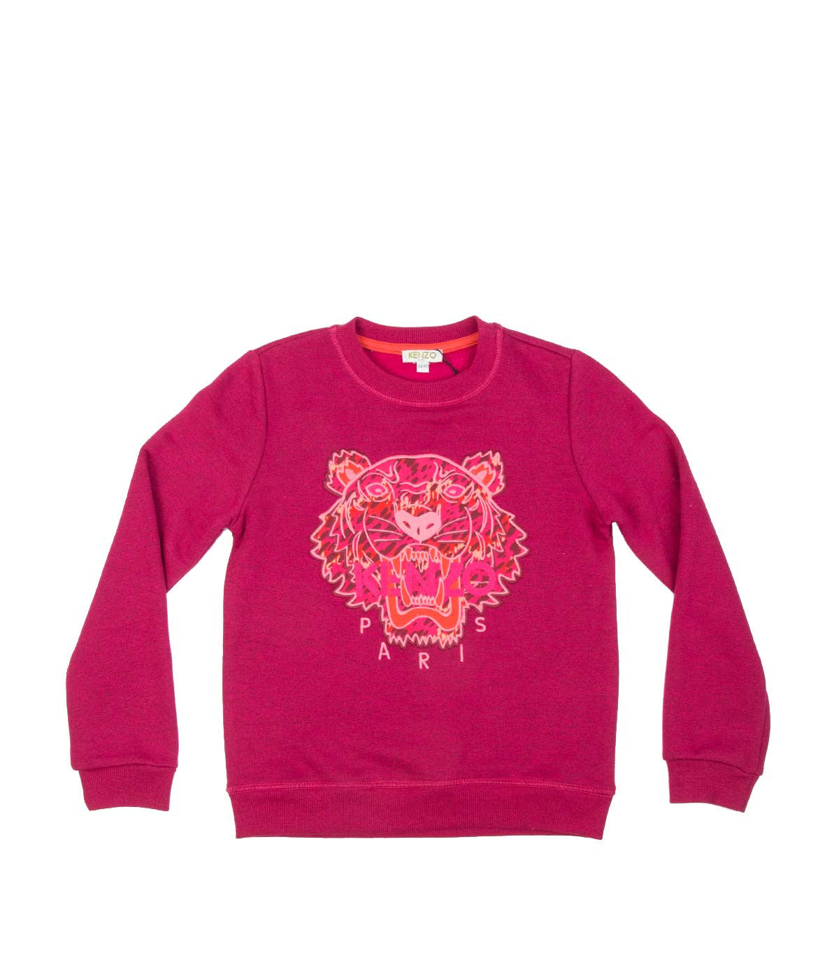 Kids Fuchsia Pink Tiger Pullover