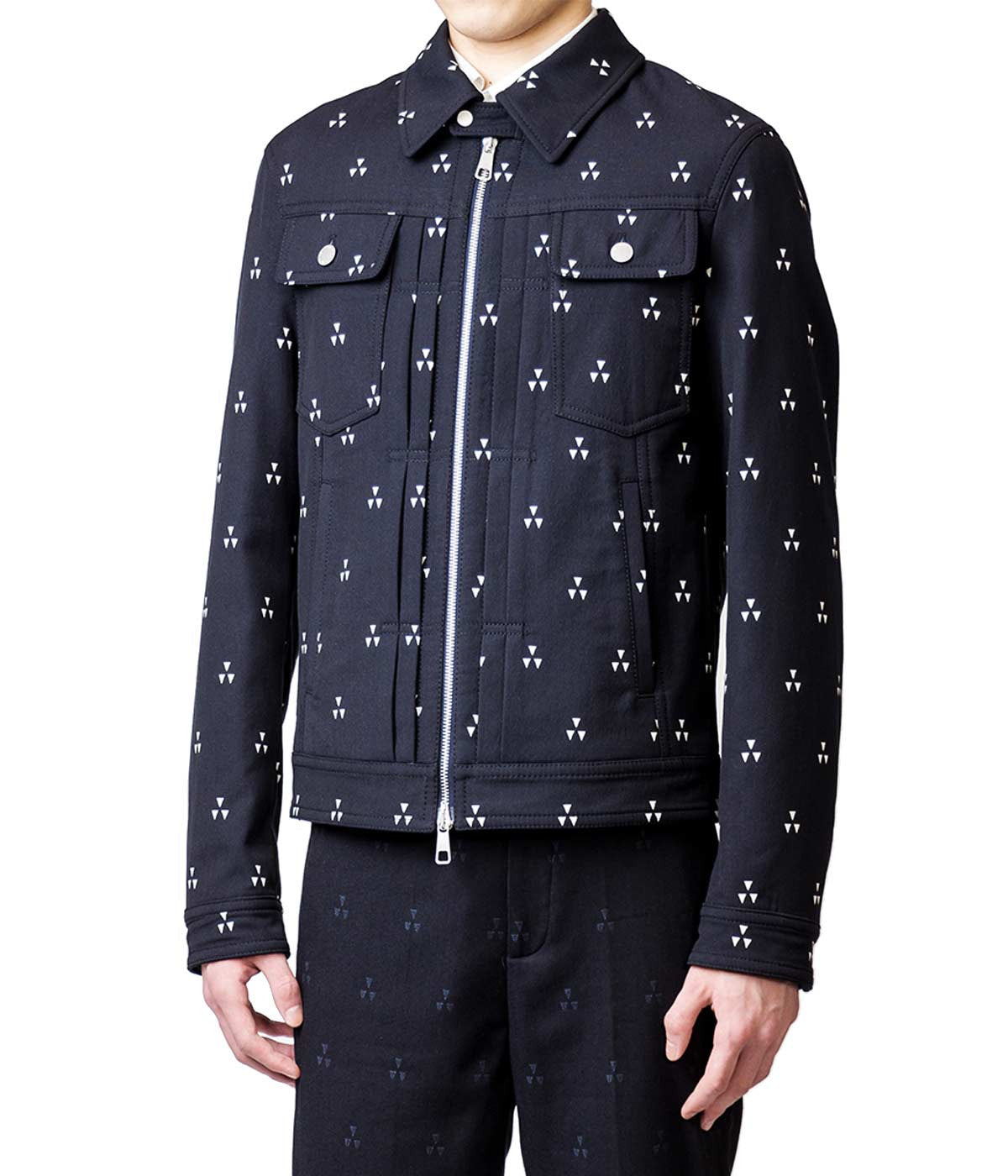 Geometric Jacquard Jacket