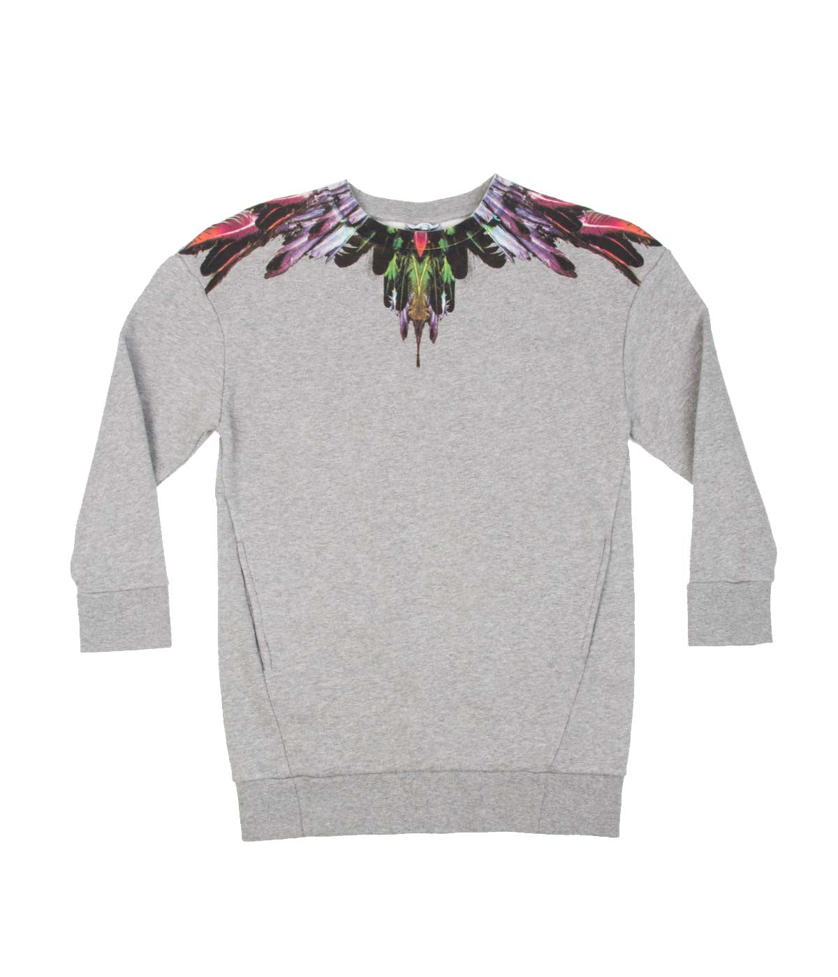 Grey Feathers Print Sweatshirt