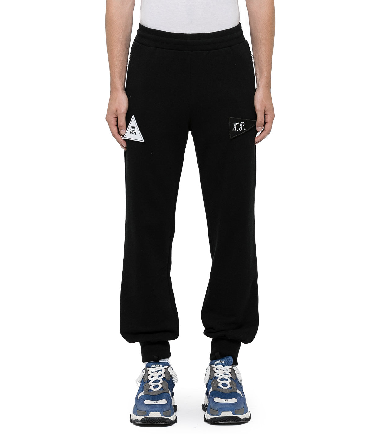 Black Velcro Detail Sweatpants
