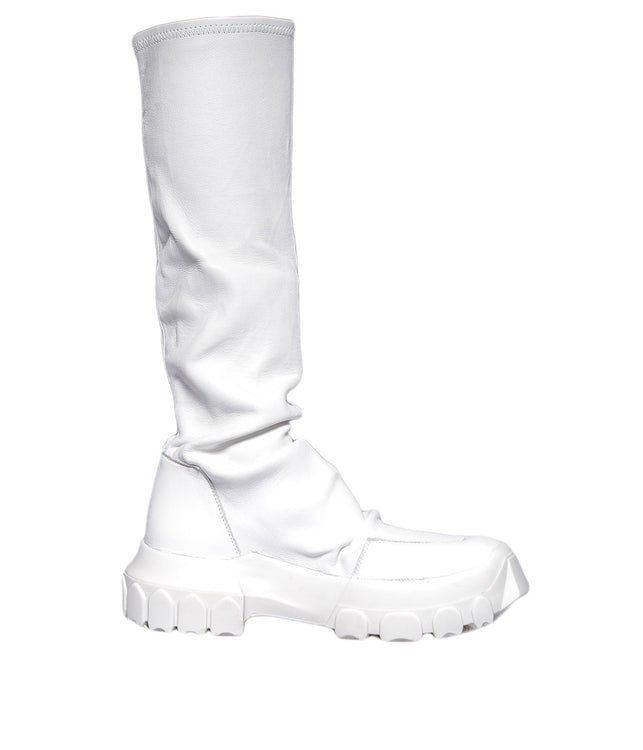 White Hiking Sock Boots
