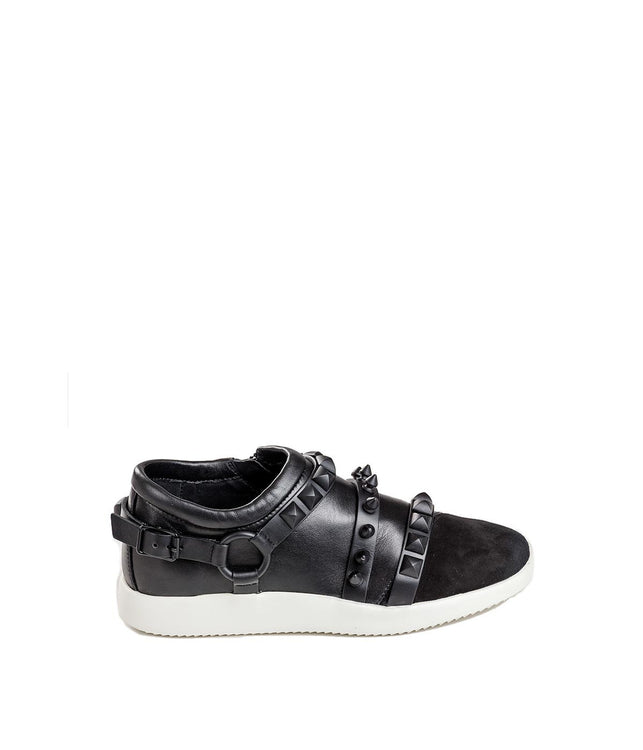 Black Stud Runner Sneakers
