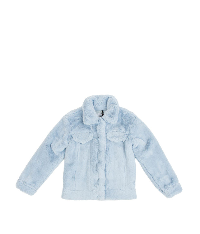 Light Blue Faux Fur Collar