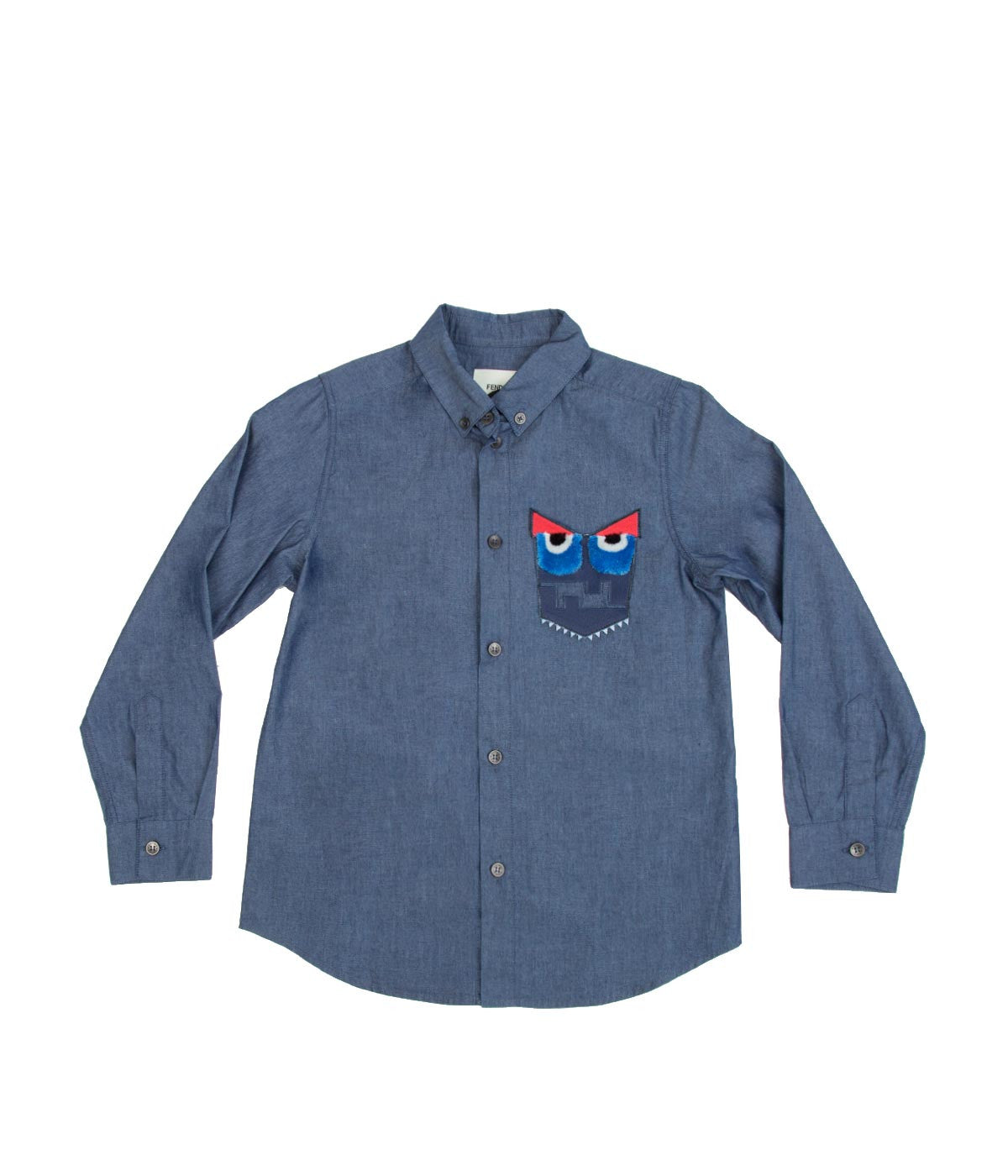 Logo Pocket Blue Chambray Shirt