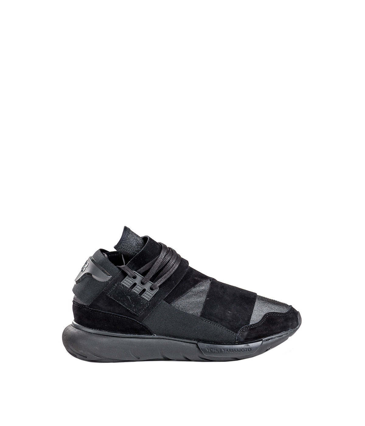 Charcoal & Black Qasa High Trainers