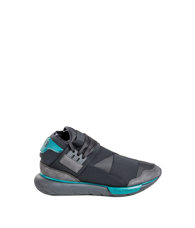 Charcoal & Blue Qasa High Trainers