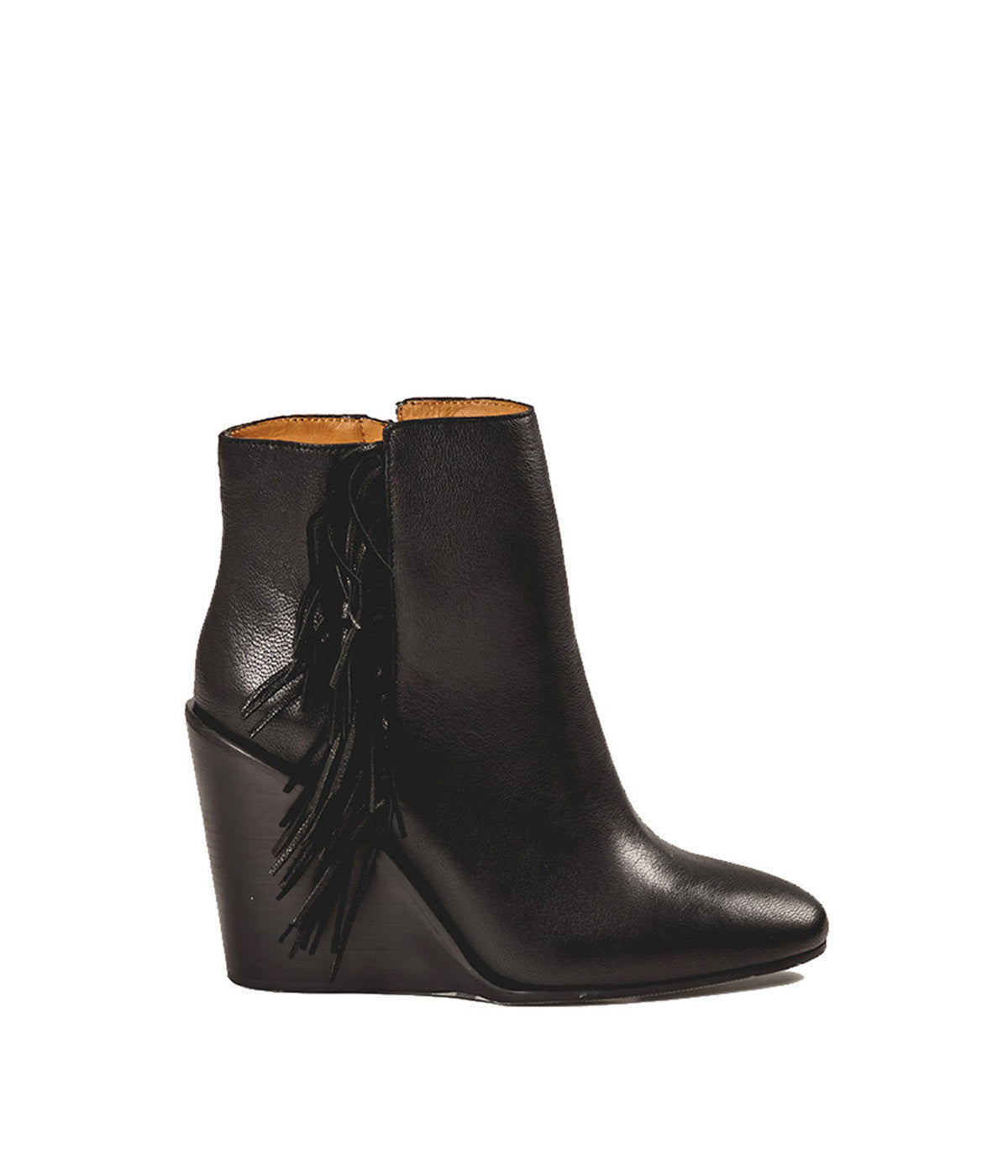 Fringe Wedge Ankle Boots