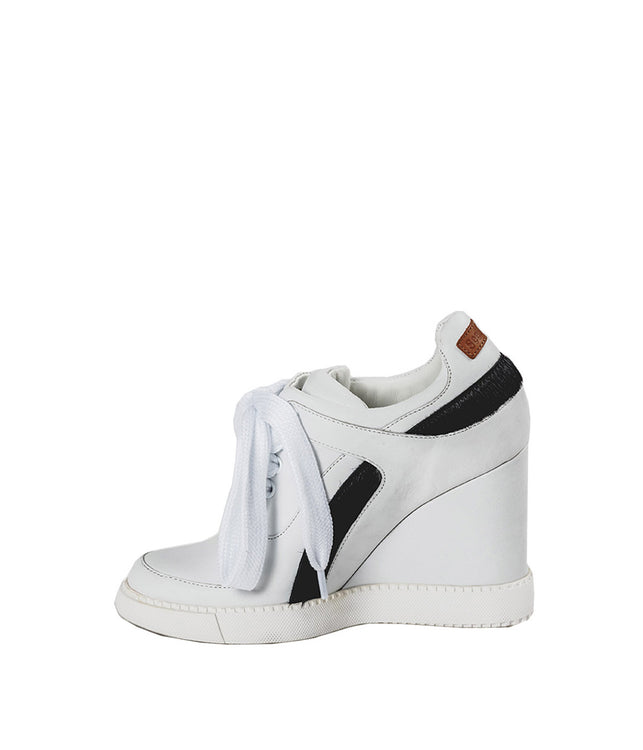 Leather Sneaker Wedge